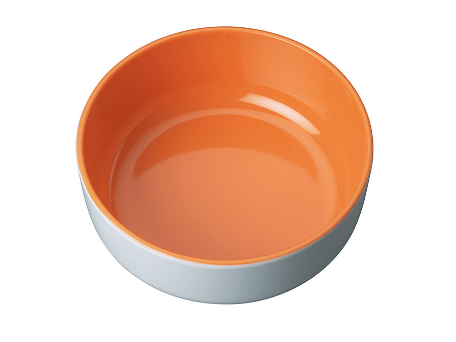 widget-melamine-servies-kom-oranje-wit
