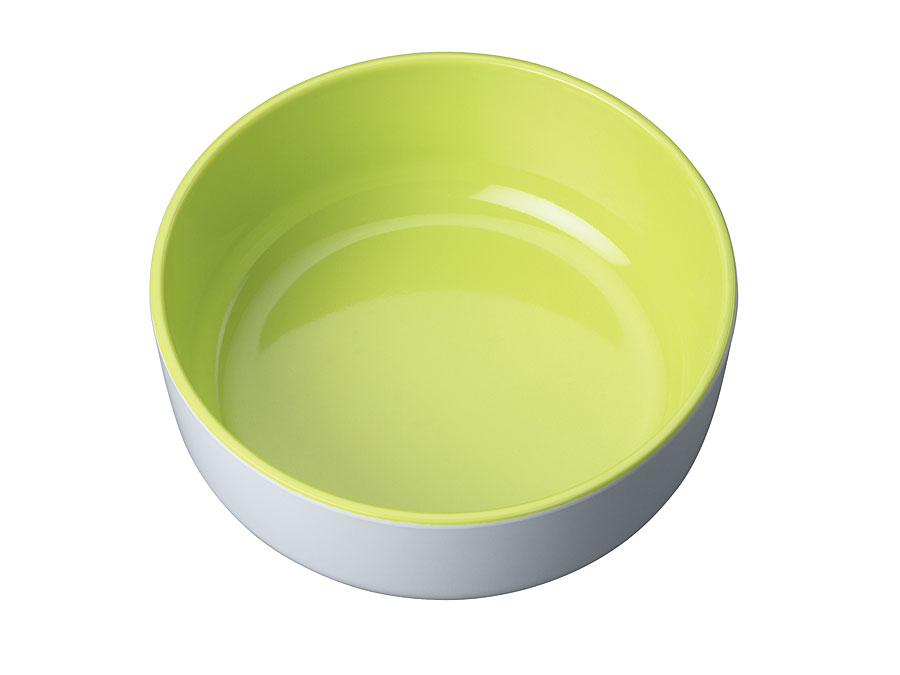 widget-melamine-servies-kom-limoengroen-wit