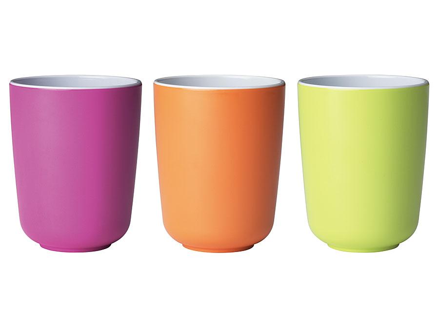 widget-melamine-tableware-cups-lilac-orange-limegreen