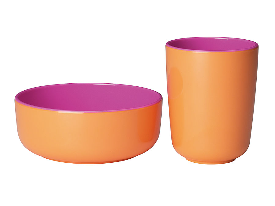 widget-melamine-tableware-bowl-cup-lilac-orange