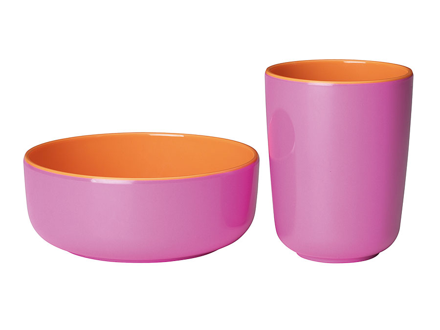 widget-melamine-tableware-bowl-cup-orange-lilac